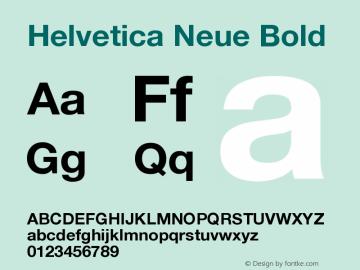 Helvetica Neue Bold Version 001.000图片样张