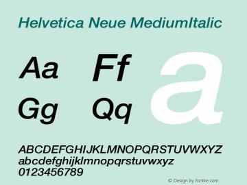Helvetica Neue MediumItalic Version 001.000图片样张
