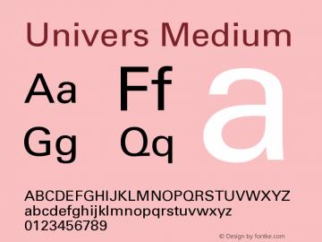 Univers Medium Version 001.000图片样张
