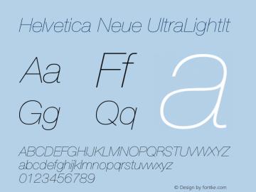 Helvetica Neue UltraLightIt Version 001.000图片样张