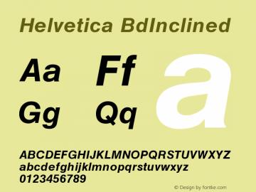 Helvetica BdInclined Version 001.000 Font Sample