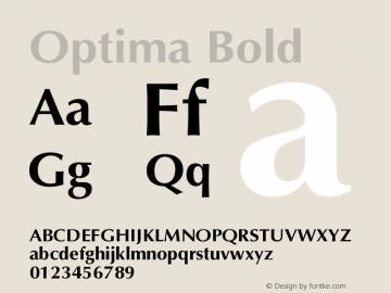 Optima Bold Version 001.000 Font Sample