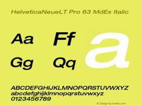 HelveticaNeueLT Pro 63 MdEx Italic Version 1.000;PS 001.000;Core 1.0.38图片样张