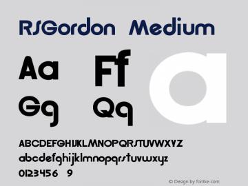 RSGordon Medium Version 001.001 Font Sample
