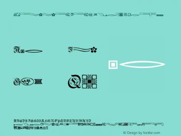 GriffinDingbats Medium Version 001.001 Font Sample