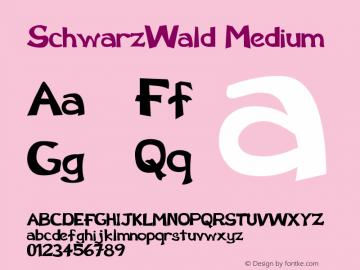 SchwarzWald Medium Version 001.001 Font Sample
