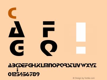 Comaro bold Version 001.003 Font Sample