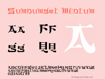 Sumdumgoi Medium Version 001.000 Font Sample