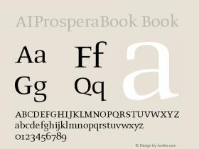 AIProsperaBook Book Version 001.000 Font Sample
