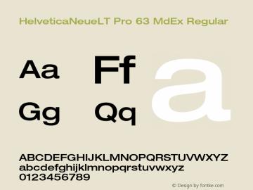 HelveticaNeueLT Pro 63 MdEx Regular Version 1.000;PS 001.000;Core 1.0.38 Font Sample