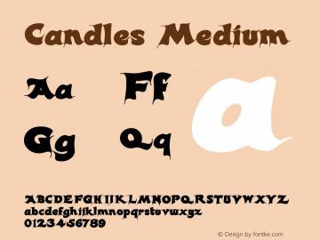 Candles Medium Version 001.000 Font Sample