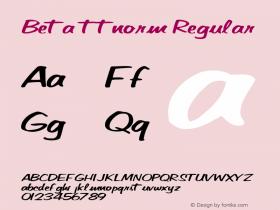 Beta ttnorm Regular Altsys Metamorphosis:10/27/94 Font Sample