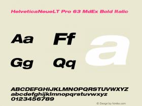 HelveticaNeueLT Pro 63 MdEx Bold Italic Version 1.000;PS 001.000;Core 1.0.38图片样张