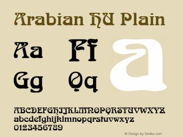 Arabian HU Plain 1.000 Font Sample