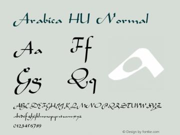 Arabica HU Normal 1.000 Font Sample