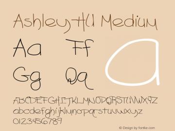 Ashley-HU Medium 1.000 Font Sample