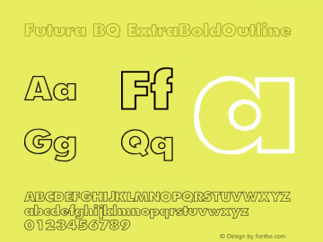Futura BQ Font,Futura Extra Bold Outline Font,FuturaBQ