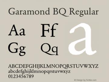 garamond bq regular