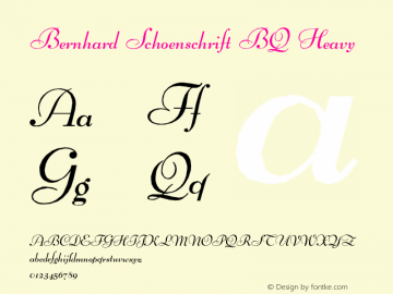 Bernhard Schoenschrift Bq Font Familybernhard Schoenschrift Bq