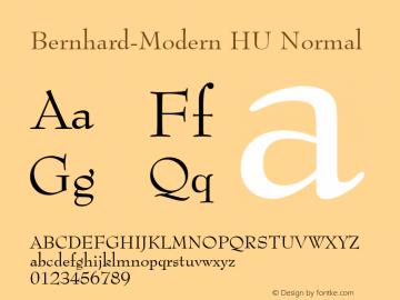 Bernhard-Modern HU Normal 1.000 Font Sample