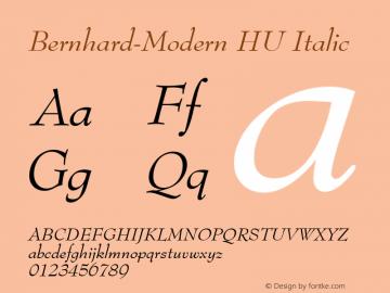 Bernhard-Modern HU Italic 1.000 Font Sample