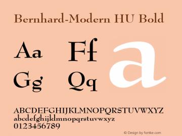 Bernhard-Modern HU Bold 1.000 Font Sample