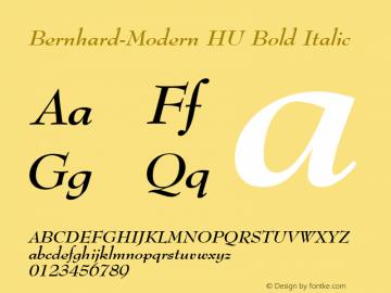 Bernhard-Modern HU Bold Italic 1.000 Font Sample