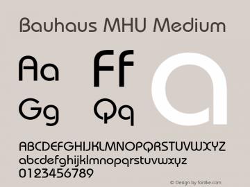 Bauhaus MHU Medium 1.000 Font Sample