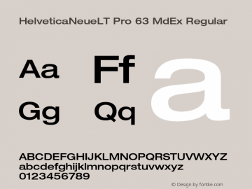 HelveticaNeueLT Pro 63 MdEx Regular Version 1.000;PS 001.000;Core 1.0.38图片样张