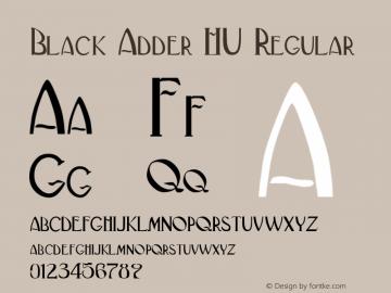 Black Adder HU Regular Altsys Fontographer 3.5 4/27/92 Font Sample