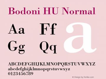 Bodoni HU Normal 1.000 Font Sample