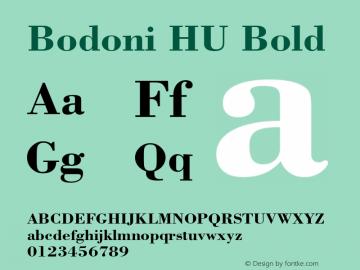 Bodoni HU Bold 1.000 Font Sample