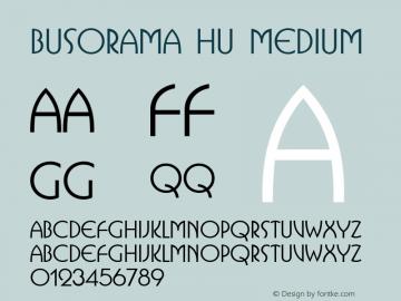 Busorama HU Medium 1.000 Font Sample