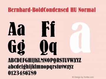 Bernhard-BoldCondensed HU Normal 1.000 Font Sample