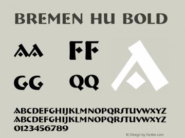 Bremen HU Bold 1.000 Font Sample