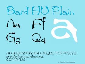 Bard HU Plain 1.000 Font Sample