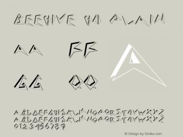 Beehive HU Plain 1.000 Font Sample