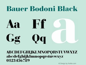 Bauer Bodoni Black Version 003.001 Font Sample