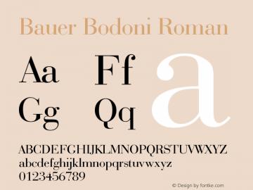 Bauer Bodoni Roman Version 003.001 Font Sample