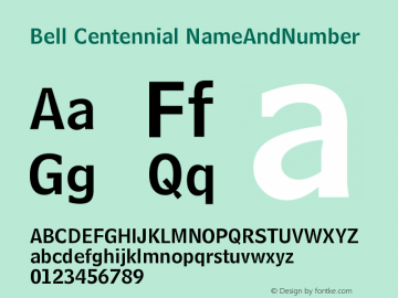 Bell Centennial NameAndNumber Version 003.001图片样张