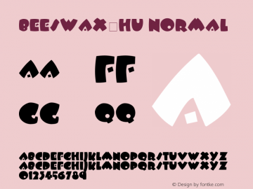 BeesWax-HU Normal 1.000 Font Sample