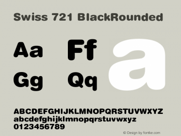 Swiss 721 BlackRounded Version 003.001 Font Sample