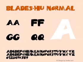 BLADES-HU Normal 1.000 Font Sample