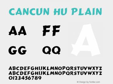 Cancun HU Plain 1.000 Font Sample
