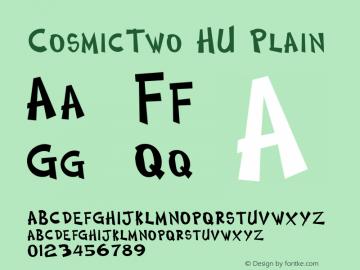 CosmicTwo HU Plain 1.000 Font Sample