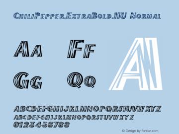 ChiliPepper-ExtraBold-HU Normal 1.000 Font Sample