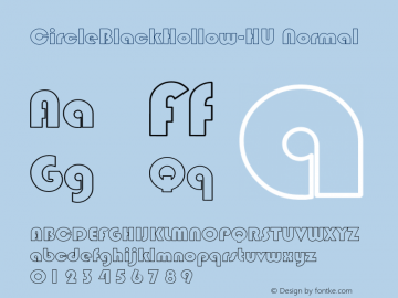 CircleBlackHollow-HU Normal 1.000 Font Sample