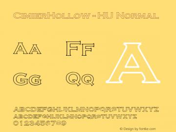 CimierHollow-HU Normal 1.000 Font Sample