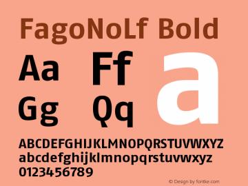 FagoNoLf Bold Version 001.000 Font Sample