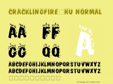 CracklingFire-HU Normal 1.000 Font Sample